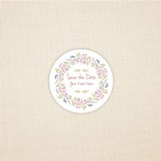 Save The Date -Wedding 37mm Matt Paper Sticker